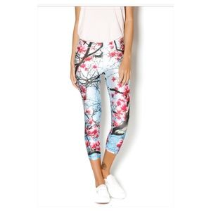 NEW Terez workout leggings in Cherry Blossom